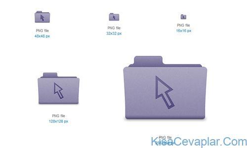 Purple Cursor Folder Icon