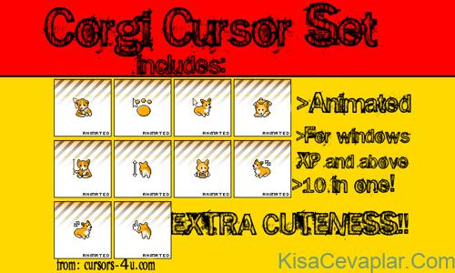 Corgi Cursor Set