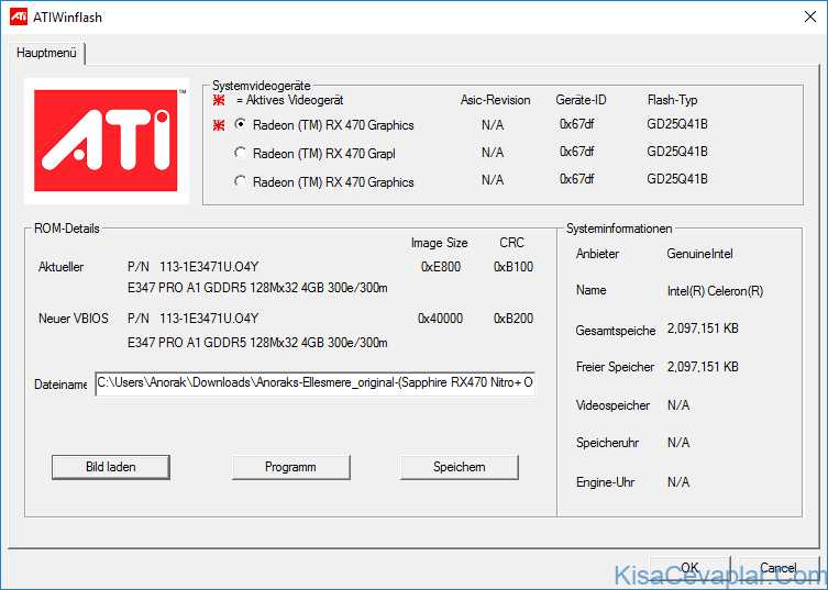 AMD/ATI ATIFlash ile ilgili görsel sonucu