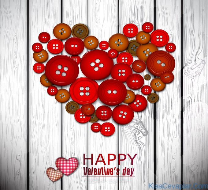 Happy Valentine's Day Heart Button Graphic