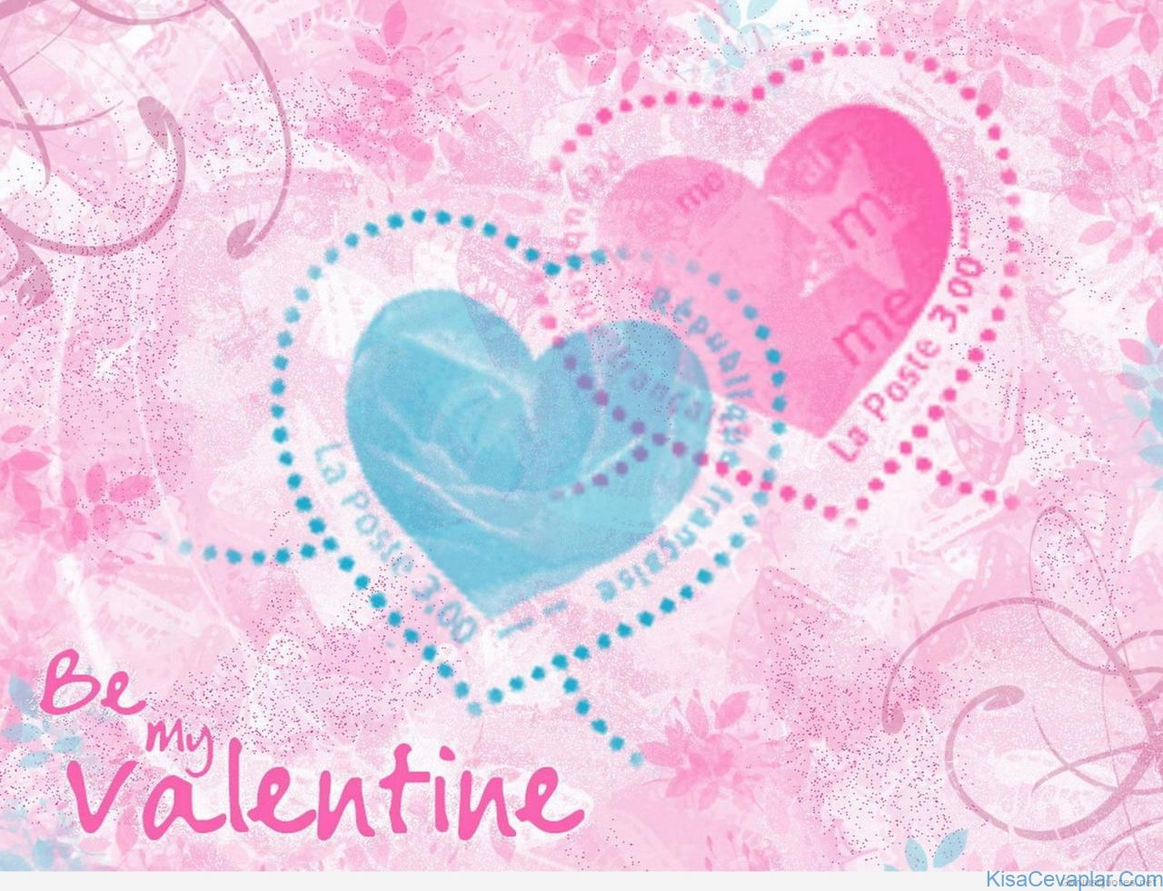 Be My Valentine Heart Stamp Quote