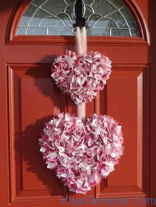 Double Heart Scrap Wreath