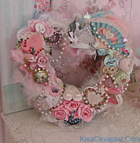 Shabby Chic Valentine Heart Wreath