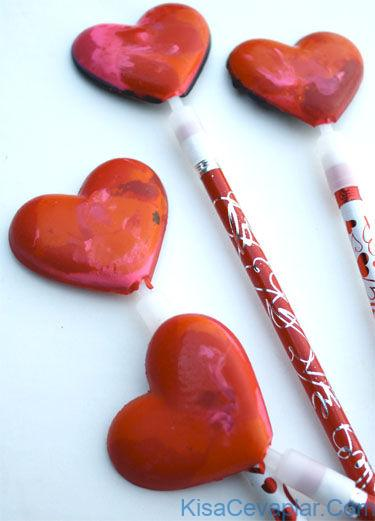 Crayon Heart Pencil Toppers