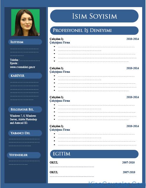 Fotoğraflı CV Örnekleri
